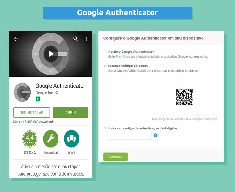 Utilizando o Google Authenticator para autenticar a sua conta