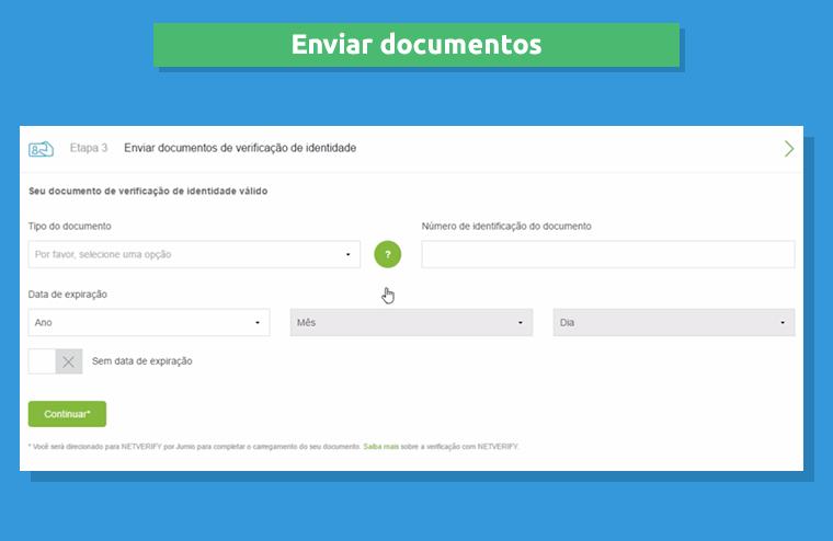 Enviar seus documentos pessoais