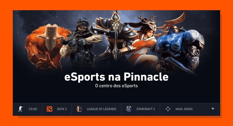 Apostas em e-sports na Pinnacle