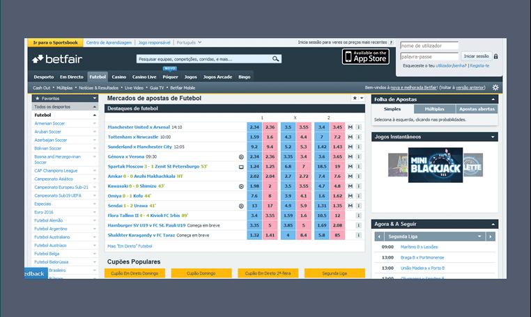 A Betfair não é o melhor site para se apostar se você está começando