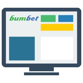 A interface da casa de apostas Bumbet