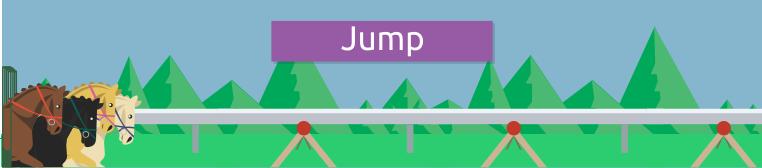 Corridas de cavalos Jump
