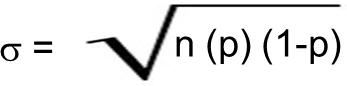 Fórmula Desvio Padrão Distribuição Binomial