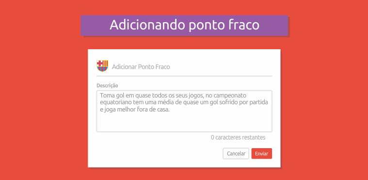 Ponto fraco Barcelons - Desafio Apostas Online