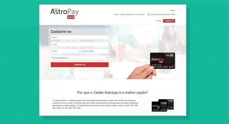 Cadastre-se no site da Astropay