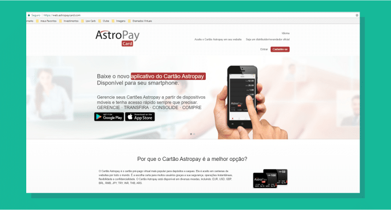 Acesse o site da Astropay