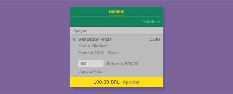 Boletim de apostas no Brasil