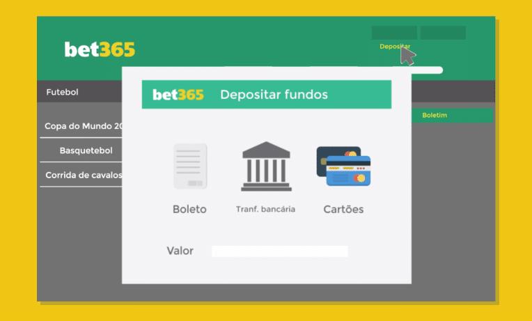Depositando fundos na bet365