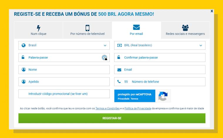 Por e-mail: recebendo os dados de acesso no seu endereço eletrônico