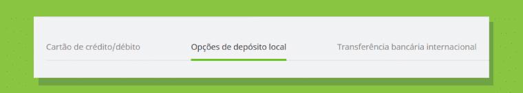 Opcoes Depesito Local