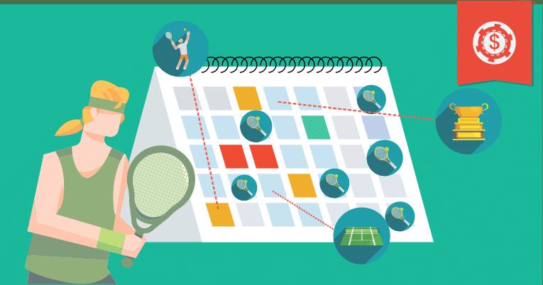 Principais eventos do Calendário do Circuito de tênis masculino