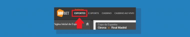Selecione Categoria Esportes
