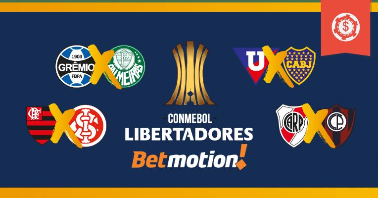 Prognósticos da Copa Libertadores - Quartas de Final - Jogos de ida