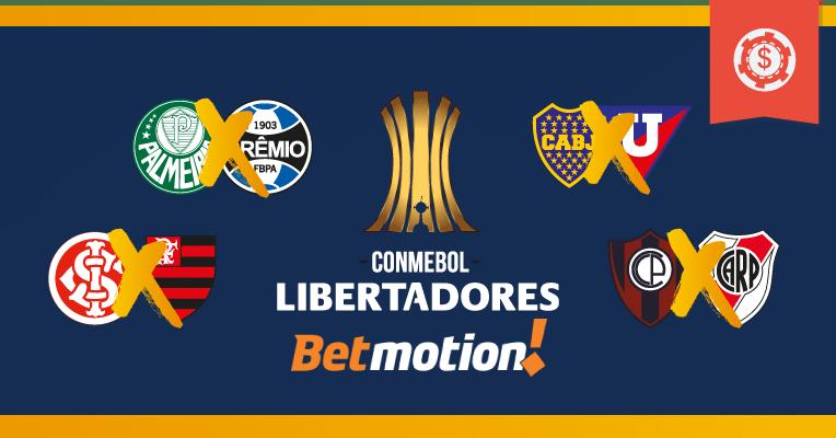 Prognósticos da Copa Libertadores - Quartas de Final - Jogos de volta