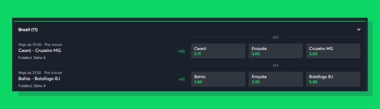 A interface da Sportsbet