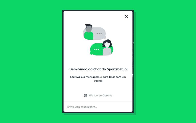 Suporte ao cliente acontece por chat em tempo real