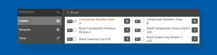 escolhendo algum campeonato do Brasil