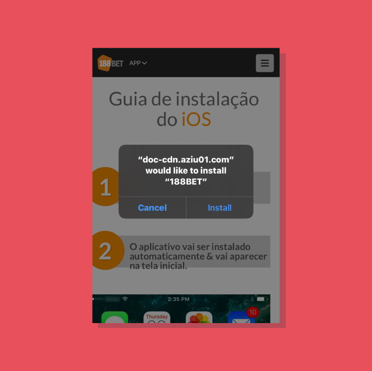 selecionar o aplicativo